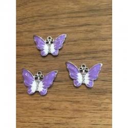 Schmetterling lila mit Strasssteinen 2..