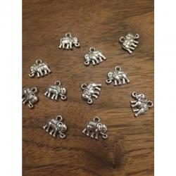 Vintage -Charm Elefant antiksilber 12x..