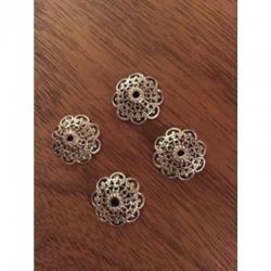 Perlkappe Blume 18x7mm