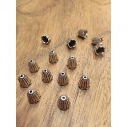 Perlenkappen tibetischer Stil, 10x10mm..