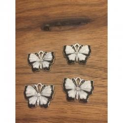 Schmetterling Rhinestone-Emaille 21x27..