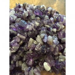 1 Strang Amethyst steinperle Chips 8-1..