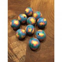 Polymer Ton Perle dodgerblau 20mm bohr..