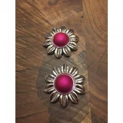 Acrylperlen Blume pink 45x45x13mm, boh..