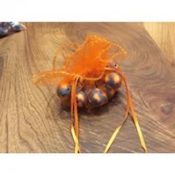 Organza Beutel orange 26.2cm duchmesser