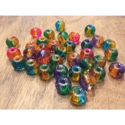 5 stk Grosslochperlen Glas, farblich g..