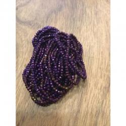 galvanisierte Glasperlen violett Abaku..