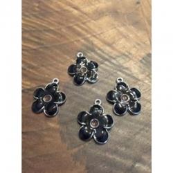 Blume schwarz 22x19x3mm