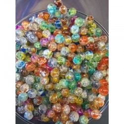 10 stk Crackle Perlen 8mm, bohrung 1mm..
