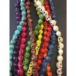 10 stk Kunst Howlith Perlen, schädel. ..