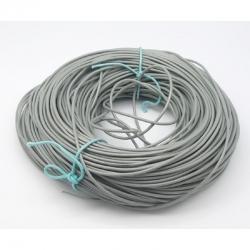 1m Rindslederband, dunkelgrau, ca. 2 mm Durchmesser