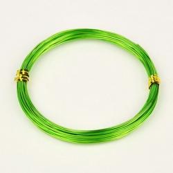 Aluminiumdraht hellgrün, 1.0 mm, 10 m / Rolle,