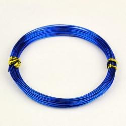 Aluminiumdraht, blau, 1.0 mm, 10 m / Rolle,