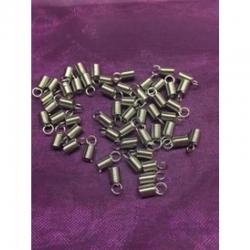 10 stk Eisen Endkappen, Platin Farbe,