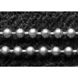 1 m Kugelketten, Silberfarbig, Perle ca. 1.5 mm Durchmesser