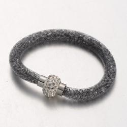 Armband, mit Acrylrhinestone Grau, 210x8 mm