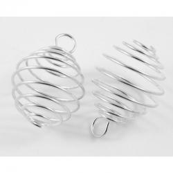 Perlenkäfig oval, 19 mm breit, 28 mm lang, Bohrung: 4 mm.