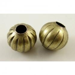 10 stk Perlen , Antik Bronze, 5 mm, Bohrung: 2 mm