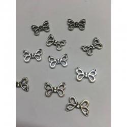 10 stk Schmetterlingsflügel,10x15x2.5 mm, Bohrung: 1 mm.