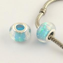 Acryl-Perlen, Türkis, 13.5x9 mm, Bohrung: 4.5 mm