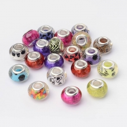 5 stk Acryl-Perlen, 14 mm, Bohrung: 5 mm,