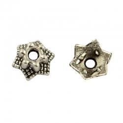 10 stk Perlenkappen, 7x3 mm , Bohrung: 2 mm