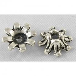 10 stk Perlenkappen,8 mm x 3 mm  Bohrung: 1 mm