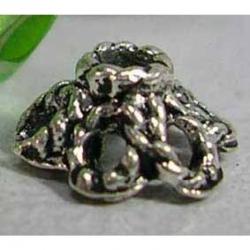 10 stk Perlenkappen, 6.5 mm Durchmesser, Loch: 1.3 mm