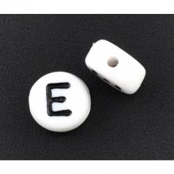 10 stk Acrylbuchstabe E, 7mm, bohrung 1mm