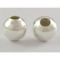 10 stk Zwischenperlen, Silberfarbig, 5 mm, Bohrung: 2 mm