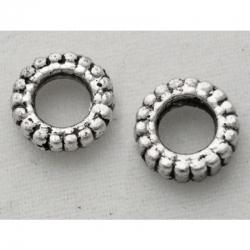 10 stk Donut Perlen 7 mm x 2 mm, Bohrung: 3.5 mm