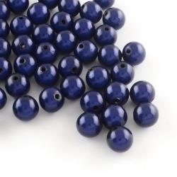 10 stk Miracle Beads, mitternachtsblau, 8 mm, Bohrung: 2 mm