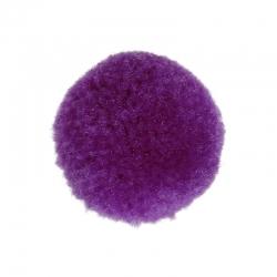 Kaschmir Bommel violett, Rund 20mm