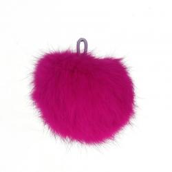Angora Bommel, pink, 80mm, mit schlaufe