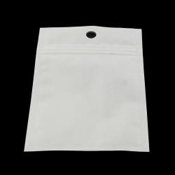 Zip Lock Säckchen,vordere Seite durchsichtig, hinten weiss. 13x8cm