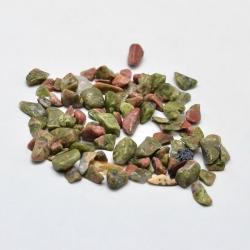 20 gr Unakite Chip-Perlen, kein Loch, 2~8x2~4 mm