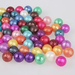 5 stk Acryl Perlen, Gemischte Farbe, 16 mm, Bohrung: 2 mm