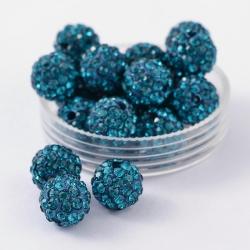 Shamballa, Klasse A, Blue Zircon, 10 mm, Bohrung: 1.8~2 mm