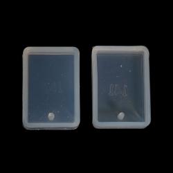 Silikon Gießform Rechteck Weiß 34mm x 24mm