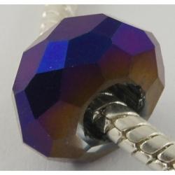 Galvanisieren Glasperlen facettierte Rondelle, ca. 14x8 mm Bohrung: 5