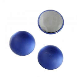 Acrylcabochon Rund-Flache Rückseite Dunkelblau 10mm