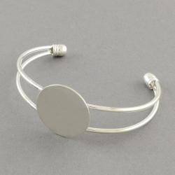 Armreif Rohlinge,Silberfarbig, 63 mm; flache runde Auflage: 20 mm_1