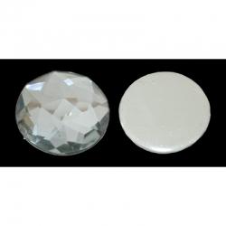 10 stk Cabochon, Acryl-Strass-Perlen, weiß, 12 x4 mm