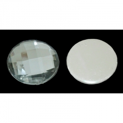 10 stk Cabochon, Acryl-Strass-Perlen,12x3.8 mm dick