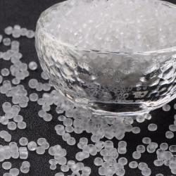 20 gr Rocailles gefrostetet weiß, Größe: 3 mm  Bohrung: 1 mm
