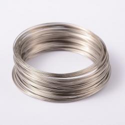 MemoryWire, Stahl, Platin Farbe, 65 mm; über 100windungen pro Verpackung