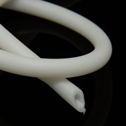 1 Meter Silikonschnur, hohl, Hohlschnur, weiß, 5 mm, Loch: 3 mm