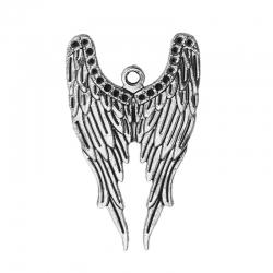 Engelflügel-Anhänger Antiksilber (39mm x 24mm