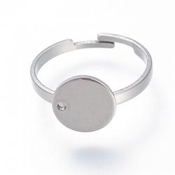 Edelstahl Ring verstellbar, 17.5mm, Fach 10mm