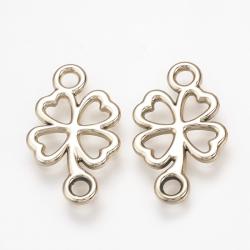 Aluminium Verbinder, Klee mit vier Blättern,